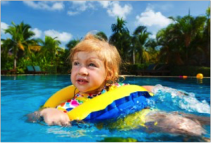 Girl In Pool, Robson's Pool Safety Inspections