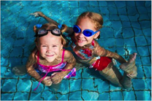Girls In Pool, Robson's Pool Safety Inspections